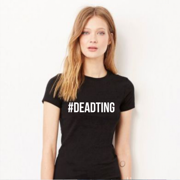 Dead Ting Ladies Black T-Shirt