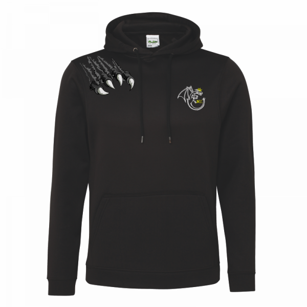 Northern Kings Black Mens Polyester Hoodie