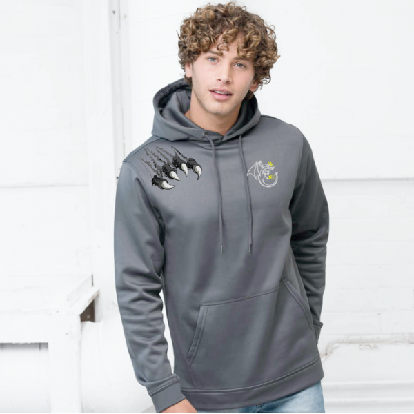 Northern Kings Grey Mens Polyester Hoodie